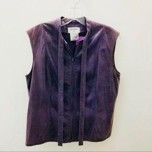 Chanel Purple Embossed Leather Vest